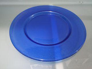 plato decorativo de cristal