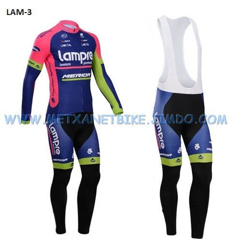 Equipación ciclismo termica Lampre t.S,L,XL