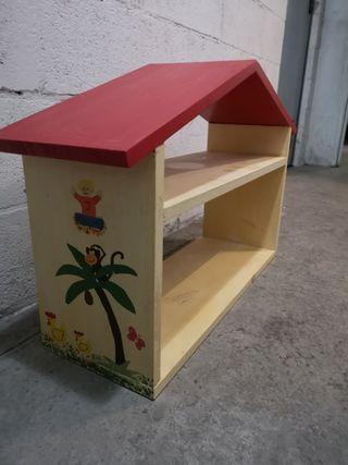 estanteria de madera