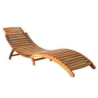 Tumbona de madera maciza