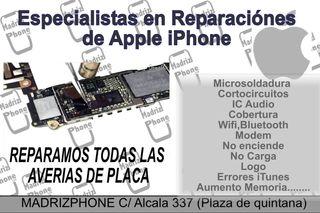 REPARAR PLACA BASE IPHONE 6,6s,7,8,Plus,X MADRID