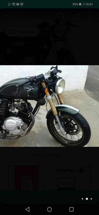 Motorcycle Hanway Raw125 Cafe racer