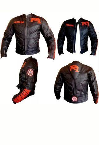 chaqueta cuero moto yamaha r1