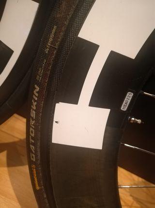 Ruedas carbono HED jet, tubulares perfil 60-90
