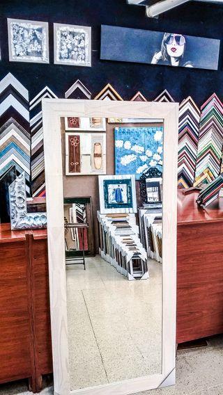 NUEVO Espejo Palet 180x60 Blanco