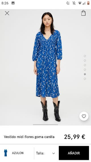 vestido flores Pull and bear