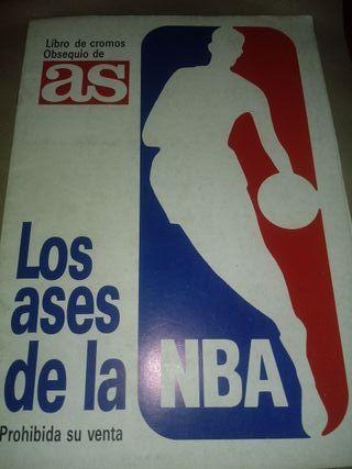Álbum Cromos Los Ases de la NBA, 1989