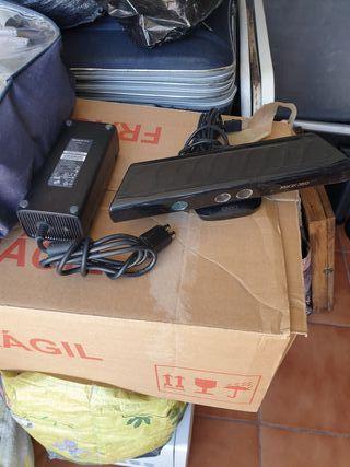 cámara y alimentador de consola xbox 360