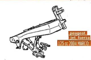 Jet force 125 Peugeot,Chasis documentados