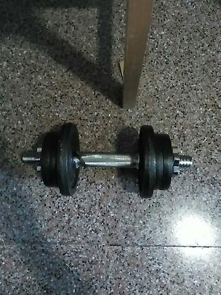 Mancuerna ajustable hasta 10 kilos