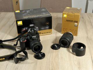 Cámara Reflex NIKON D5600 con 2 Objetivos