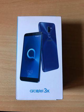 Alcatel 3X Metallic Blue NUEVO! Abierto para fotos