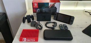 Nintendo Switch, mandos gris.