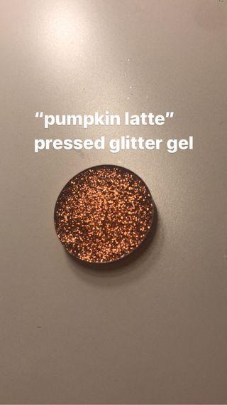 pumpkin latte glitter