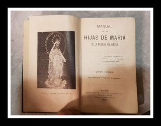 """Libro """"Manual de las hijas de María"""" 1929"""