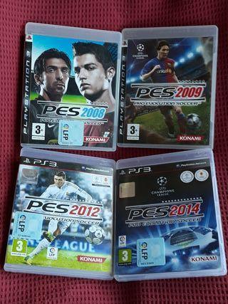 """4 JUEGOS PS3 """"PRO-EVOLUTION"""""""