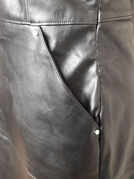 Vestido polipiel negro talla L