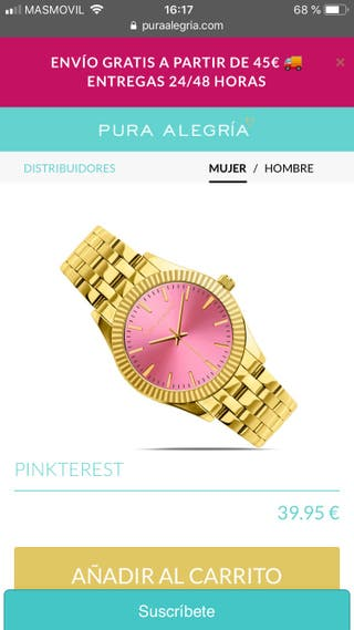 Reloj mujer Pura Alegría