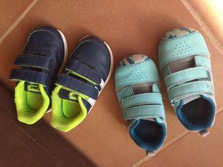 2 pares zapatillas bebé. 21 y 22