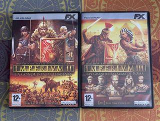 2 Juegos PC. IMPERIUM II e IMPERIUM III. CD-ROM.