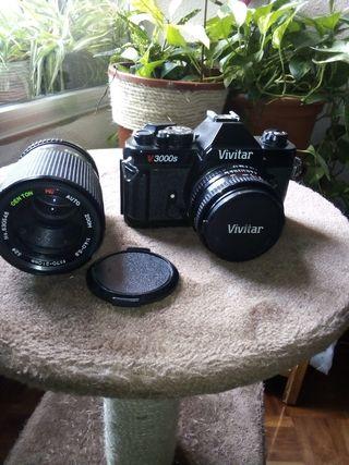 cámara analógica marca VIVITAR