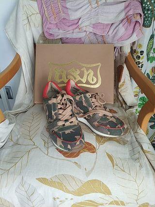 zapatillas con cuña interior Ash