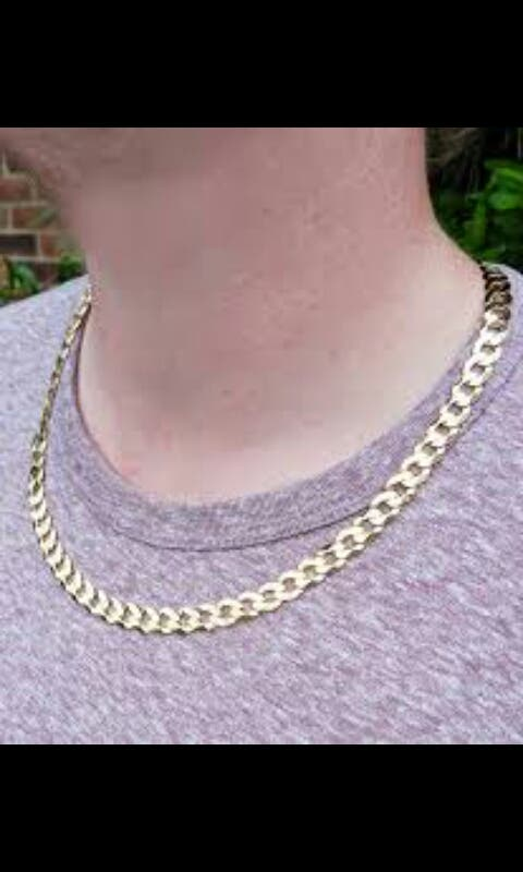 9k gold curb chain/necklace