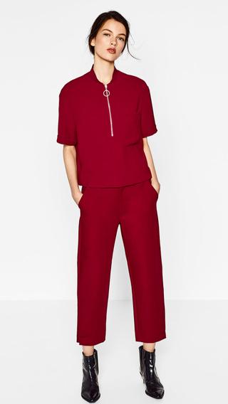 camiseta roja ZARA