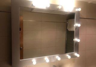 Espejo camerino 12 bombillas