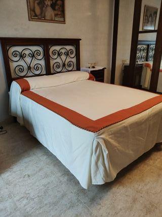 cama de matrimonio 135x180, somier articulado
