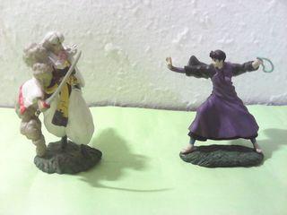 Lote de figuras de inuyasha, miroku y sesshomaru