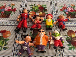 7 Muñecos Dragon Ball Goma Antiguos