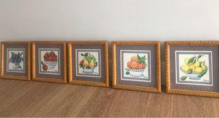5 Cuadros frutas