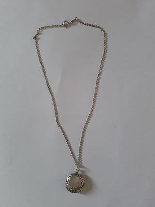 cadenas de plata con perlas