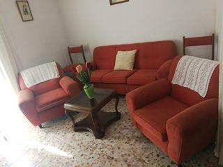 Conjunto sillón 3+1+1 y sillas