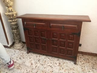 Mueble retro entrada, madera maciza.