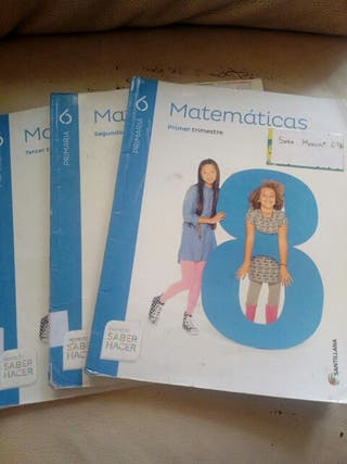 Libro de texto matemáticas Sexto primaria
