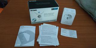 Blanco 1 Puerto LAN Ethernet RJ-45 10//100Mbps, 2 Antenas externas abatibles, Punto de Acceso, 802.11b//g//n, WPS, indicador LED de se/ñal Repetidor WiFi N300 con Enchufe D-Link DAP-1365