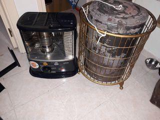 2 estufas. leña y parafina.