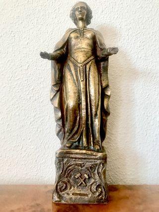 Antigua escultura de bronce Art Noveau