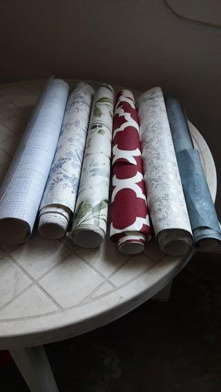 Restos de papel pintado