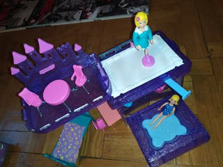 Castillo resort en la nieve de muñeca polly pocket