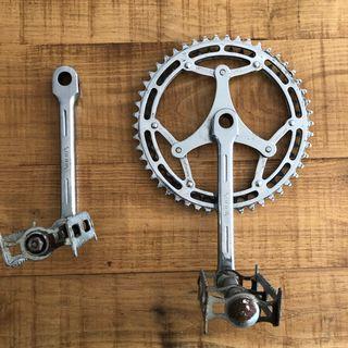 Bielas bicicleta antigua Alfa Solida