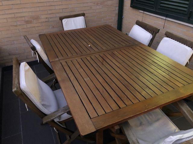 Conjunto mesa y sillas de jardin