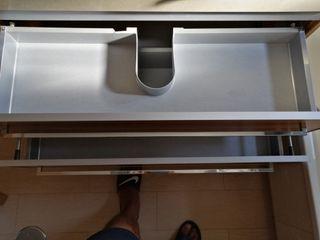 Mueble baño suspendido con mueble auxiliar
