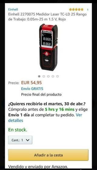 Einhell Nuevo. Medidor Laser TC-LD 25. Telémetro.
