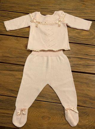 Conjunto primera puesta bebé niña 50 cm