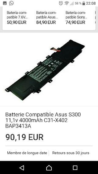 Batería ordenador portátil Asus S300