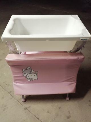 bañera cambiador hello kitty+adaptador bañera
