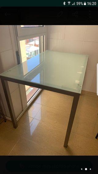 mesa cocina cristal